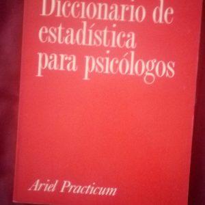 Diccionario de estadística para psicólogos